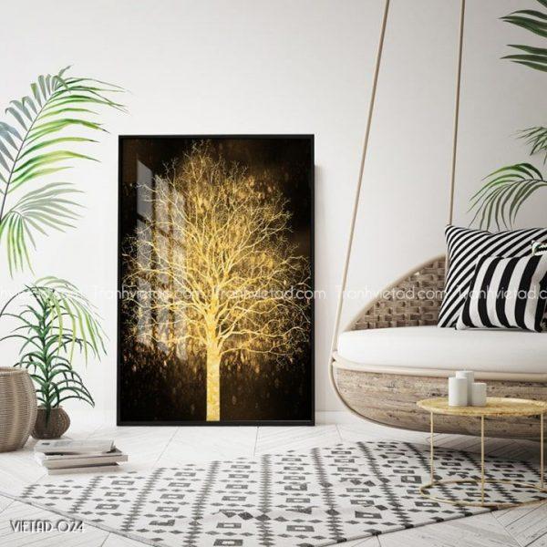 tranh cây vàng