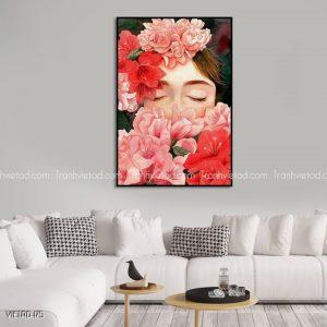 tranh gái hoa
