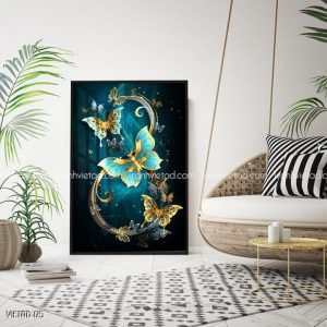 Tranh bướm nghệ thuật
