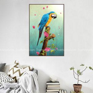 tranh chim vẹt