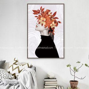 tranh cô gái vòng hoa