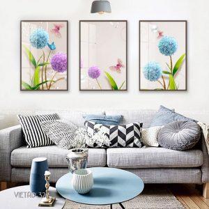 tranh hoa cẩm tú cầu