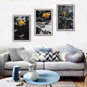 tranh hoa vàng đen