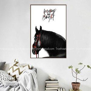 Tranh ngựa đen