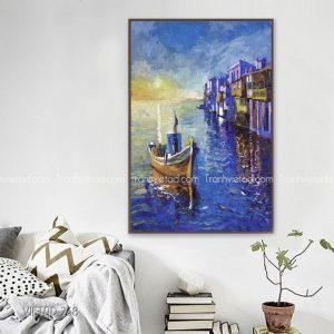 Tranh thuyền thành phố