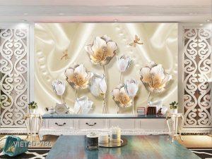 Tranh dán tường 3d hoa VIETAD-786