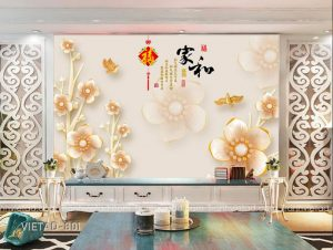 Tranh dán tường 3d hoa VIETAD-801