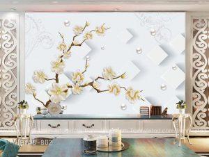 Tranh dán tường 3d hoa VIETAD-802