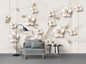 Tranh dán tường 3d hoa VIETAD-812