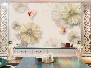 Tranh dán tường 3d hoa VIETAD-815