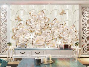 Tranh dán tường 3d hoa VIETAD-835