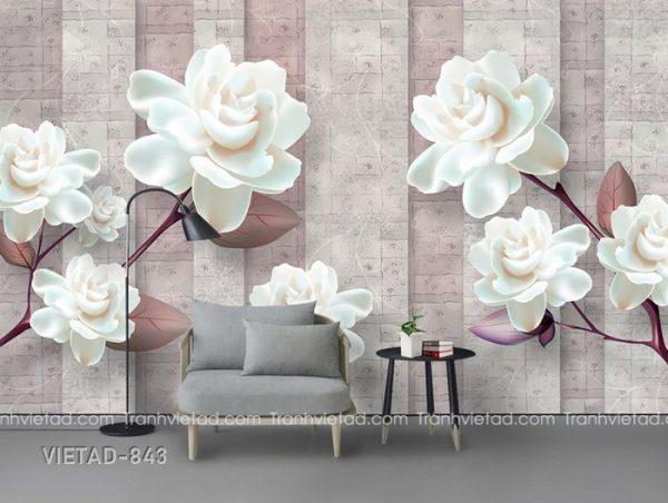 Tranh dán tường 3d hoa VIETAD-843