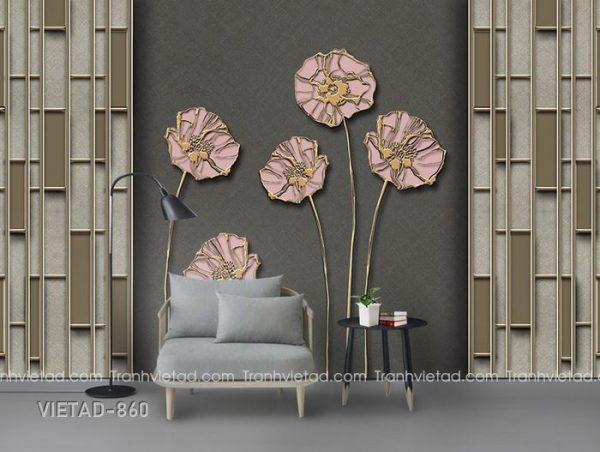 Tranh dán tường 3d hoa VIETAD-860