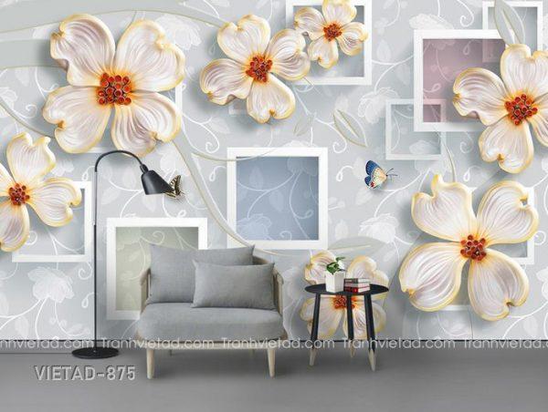 Tranh dán tường 3d hoa VIETAD-875