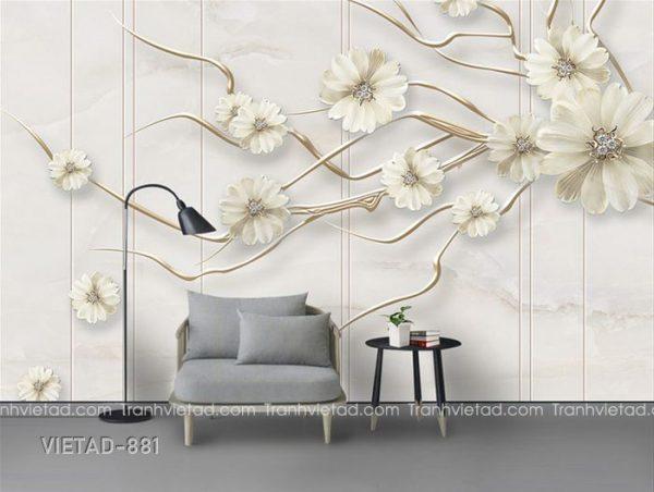 Tranh dán tường 3d hoa VIETAD-881