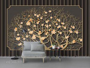 Tranh Dán Tường 3D Cây Hoa VIETAD-1175