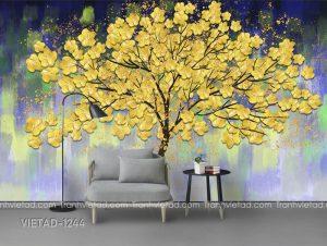 Tranh Dán Tường 3D Cây Hoa VIETAD-1244