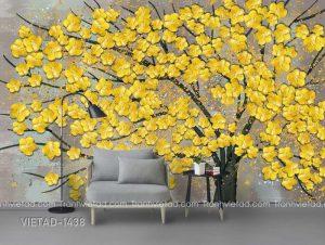 Tranh Dán Tường 3D Cây Hoa VIETAD-1438