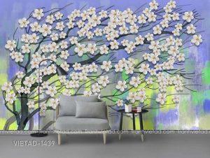Tranh Dán Tường 3D Cây Hoa VIETAD-1439