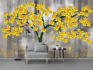 Tranh Dán Tường 3D Cây Hoa VIETAD-1553