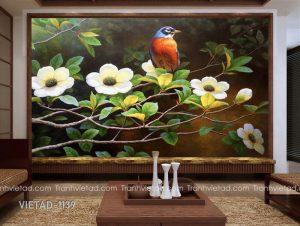 Tranh Dán Tường 3D Chim VIETAD-1139