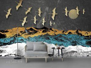 Tranh Dán Tường 3D Đàn Chim VIETAD-919