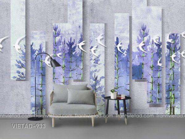 Tranh Dán Tường 3D Đàn Chim VIETAD-933