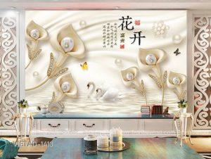 Tranh Dán Tường 3D Hoa Calla VIETAD-1413
