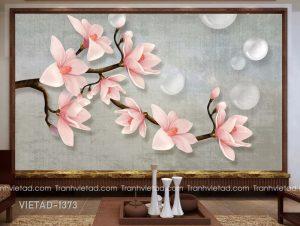 Tranh Dán Tường 3D Hoa Mộc Lan VIETAD-1373