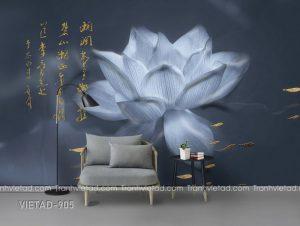 Tranh Dán Tường 3D Hoa Sen VIETAD-905