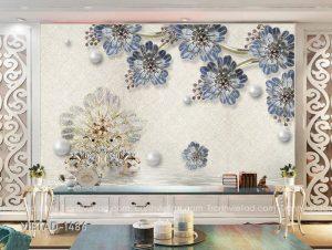 Tranh dán tường 3D hoa thiên nga VIETAD-1486