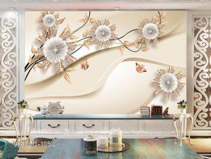 Tranh dán tường 3d hoa trang sức VIETAD-1054