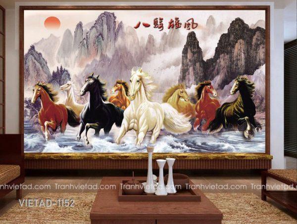 Tranh Dán Tường 3D Mã Đáo Thành Công VIETAD-1152