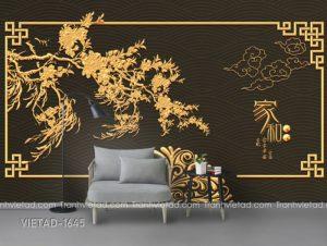 Tranh Dán Tường 3D Nền Tường Hoa Văn VIETAD-1645