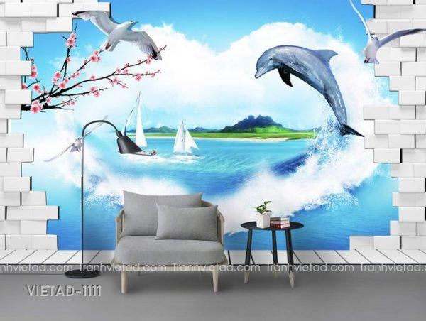 Tranh Dán Tường 3D Phong Cảnh VIETAD-1111