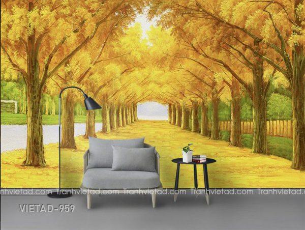 Tranh Dán Tường 3D Phong Cảnh VIETAD-959