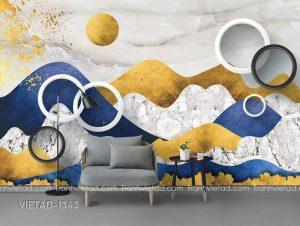 Tranh Dán Tường 3D Phong Cảnh Trừu Tượng VIETAD-1343
