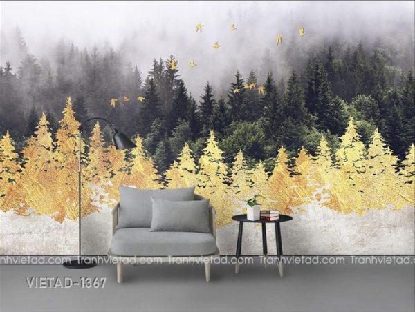 Tranh Dán Tường 3D Phong Cảnh Trừu Tượng VIETAD-1367