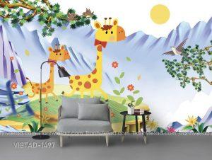 Tranh Dán Tường 3D Phòng Trẻ Em VIETAD-1497