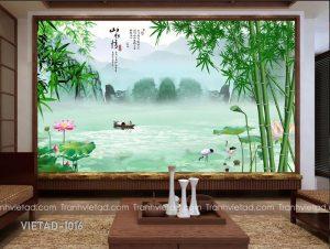Tranh Dán Tường 3D Sơn Thủy VIETAD-1016