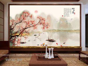 Tranh Dán Tường 3D Sơn Thủy VIETAD-1021