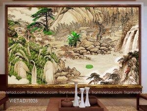Tranh Dán Tường 3D Sơn Thủy VIETAD-1026