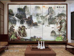 Tranh Dán Tường 3D Sơn Thủy VIETAD-1098