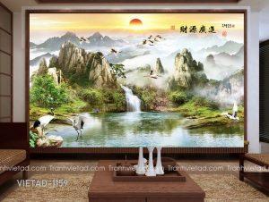 Tranh Dán Tường 3D Sơn Thủy VIETAD-1159