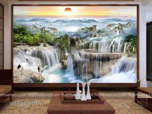 Tranh Dán Tường 3D Sơn Thủy VIETAD-1171