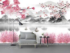 Tranh Dán Tường 3D Sơn Thủy VIETAD-1452