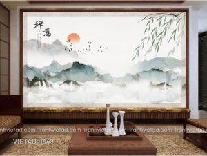Tranh Dán Tường 3D Sơn Thủy VIETAD-1649