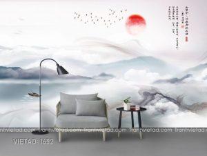 Tranh Dán Tường 3D Sơn Thủy VIETAD-1652