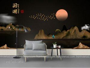 Tranh Dán Tường 3D Sơn Thủy VIETAD-1653