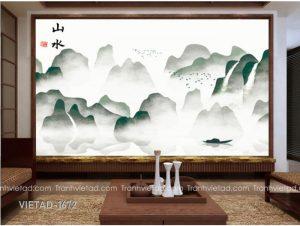 Tranh Dán Tường 3D Sơn Thủy VIETAD-1672